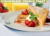 Cafe Ceramique Breakfast Special-Strawberry French Toast for OMR 1.50 : Fabulous French Toast with Cream Cheese Filling served with Whipped Topping & Fresh Strawberries along with Tea or American Coffee via alatoolmuscat.com!