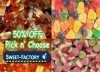 Pick and Mix any 200 Gms Candies and get 200 Gms Free for OMR 1.8 Only. For all Candy-lovers enjoy 50% Off on Assorted Delicious Candies from the Sweet Factory exclusively via alatoolmuscat.com!