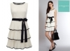 Feel Beautiful in the white and black pleated Toffy dress from AFTERSHOCK LONDON for OMR 44 at over 25% OFF and save exclusively via alatoolmuscat.com!